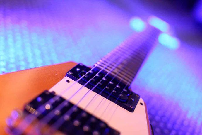 Elektrische Gitarre | Tonstudio | Blau