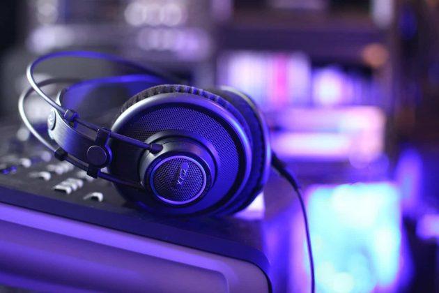 Foto Kopfhörer Tonstudio Blau