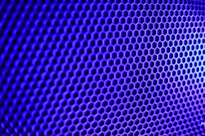 Foto Lautsprecher Gitter Tonstudio Blau