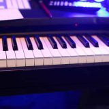Foto Piano Tonstudio elektrisch Blau