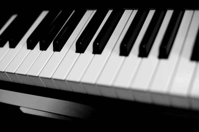Foto Piano Tonstudio Schwarz Weiß