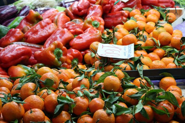 Obst & Gemüse   Markt   Mandarine   Paprika